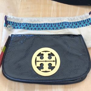 TORY BURCH CRINKLE LOGO CLUTCH Offers invited!